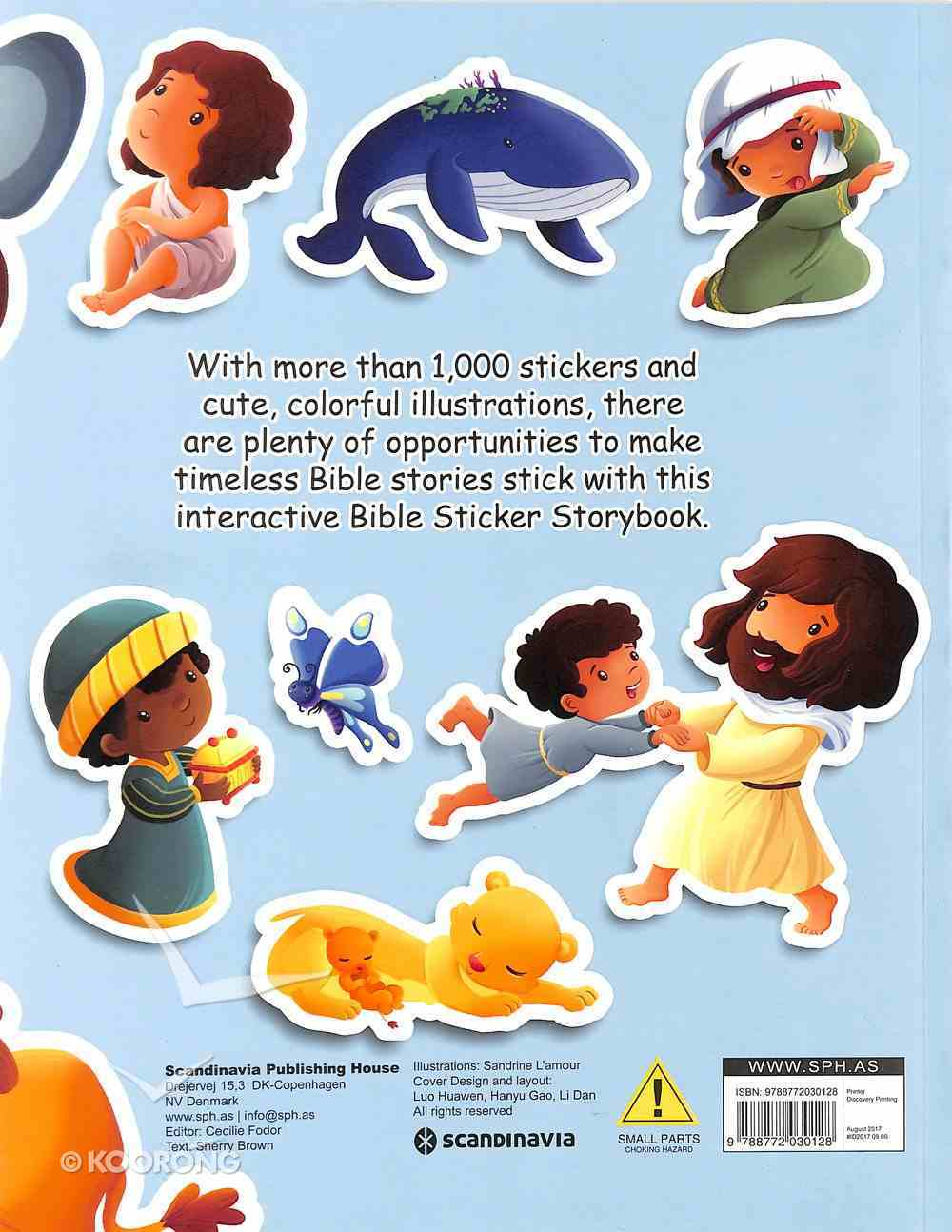 The 1000 Sticker Bible Storybook (With Flap And Velcro Closure) Paperback