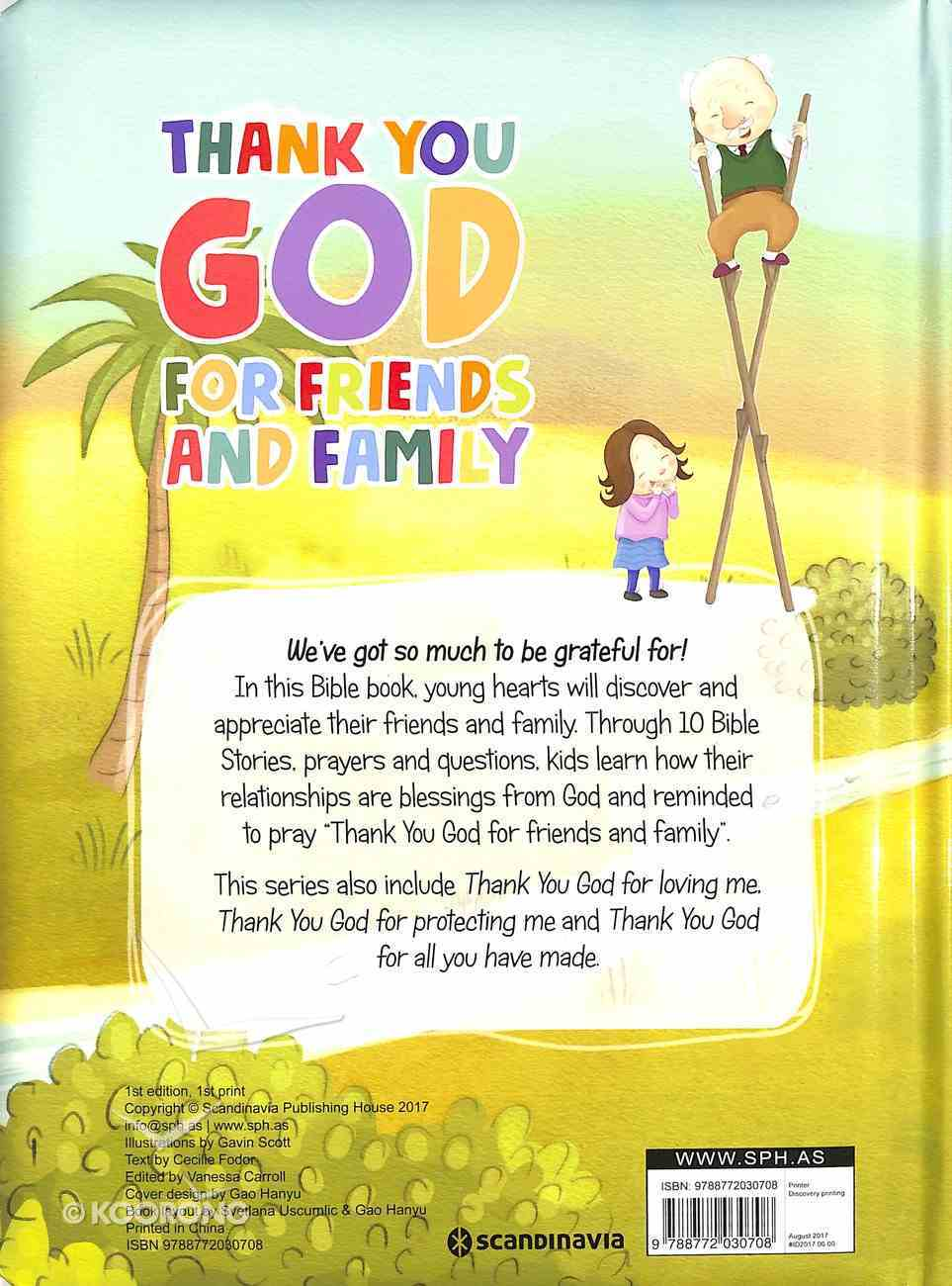 Friends and Family (My Thank You Bible Storybook Series) Board Book