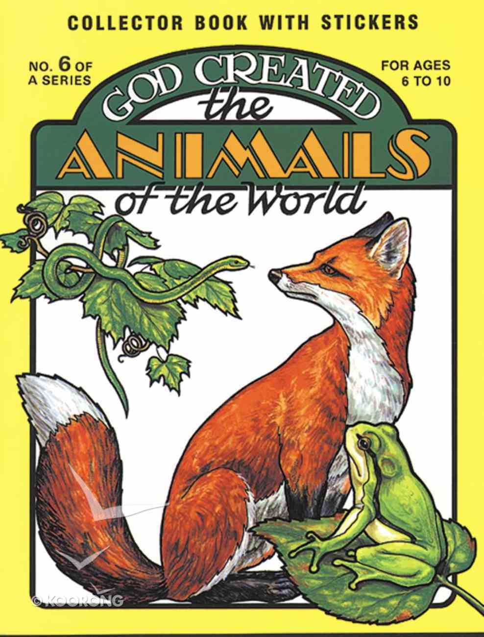God Created the Animals of the World Sticker Book Paperback