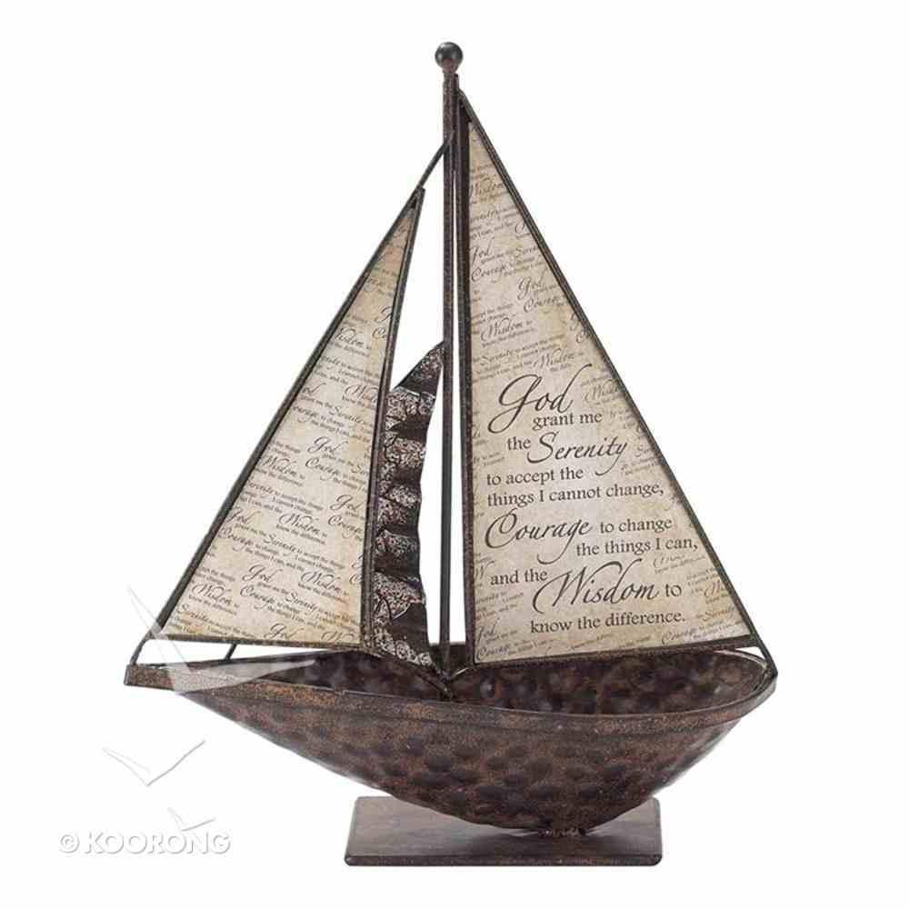 Sailboat Metal Tabletop: Serenity Prayer Homeware
