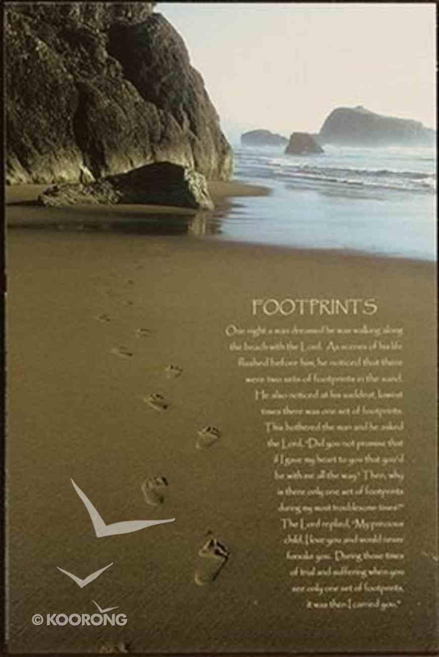 Mounted Print: Ocean Footprints Plaque