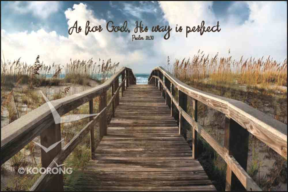 Mounted Print: As For God, His Way is Perfect Plaque