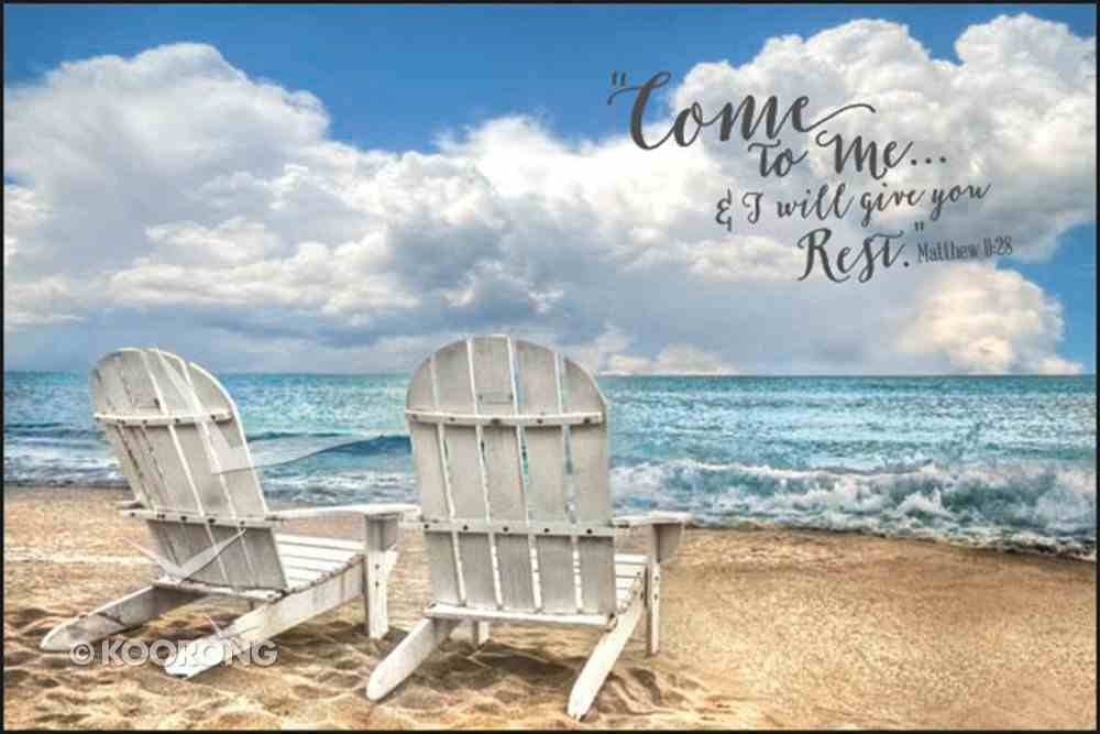 Mounted Print: Come to Me & I Will Give You Rest Plaque