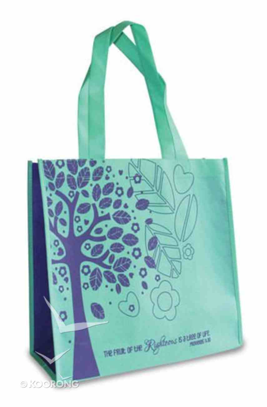 Eco Totes: Tree of Life, Teal With Purple Sides Soft Goods