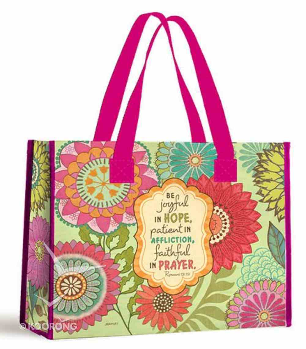 Tote Bag: Be Joyful in Hope... (With Pink Handles) Soft Goods