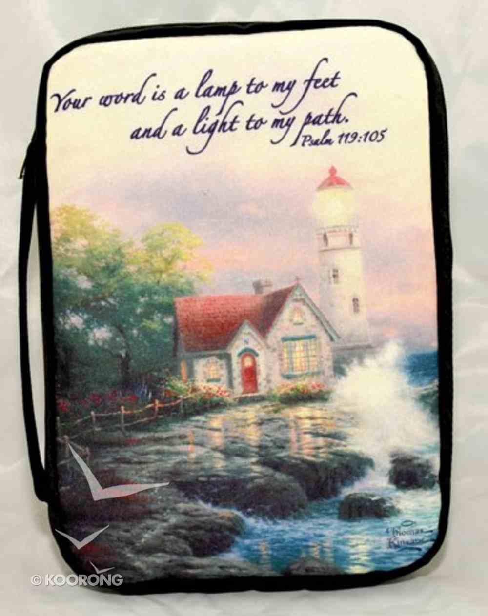 Bible Cover Thomas Kinkade Xlarge Beacon of Hope Lighthouse Navy Bible Cover