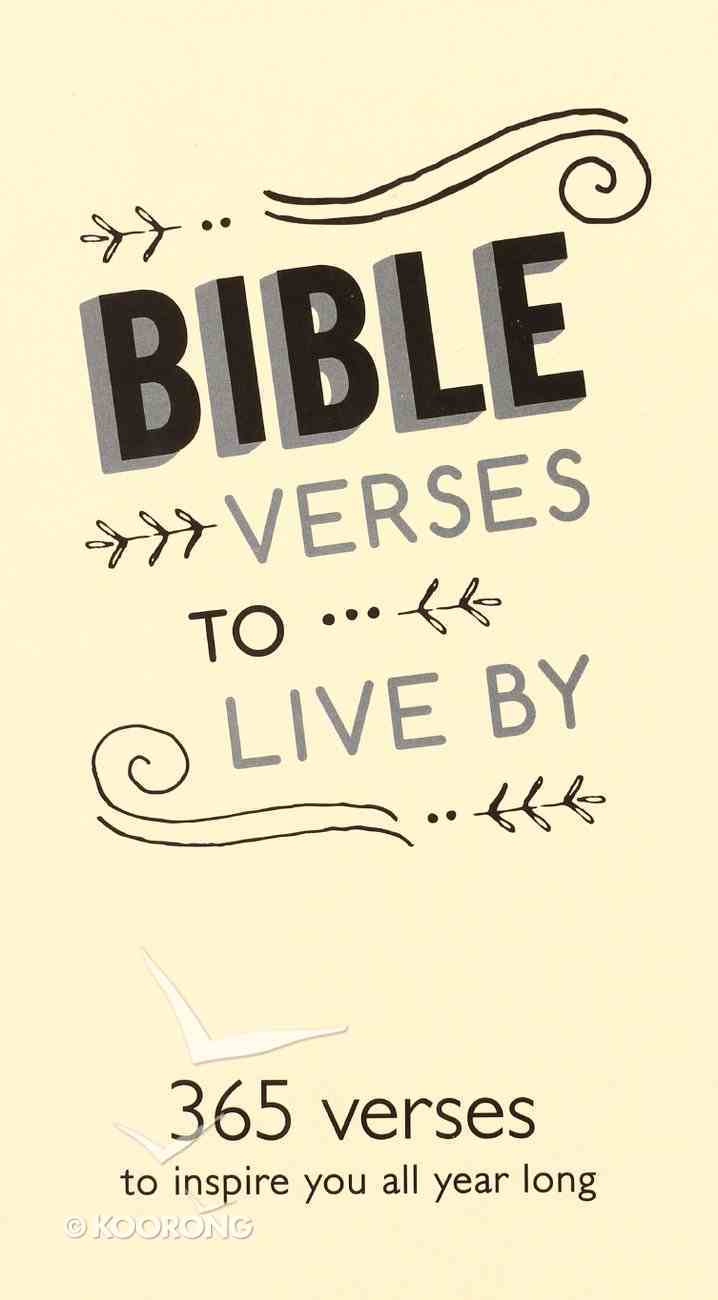 Daily Bible Verse Pad: Bible Verses to Live By, Cream Stationery