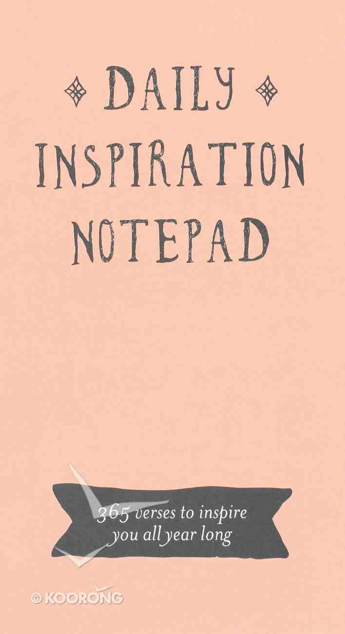 Daily Bible Verse Pad: Daily Inspiration, Peach Stationery
