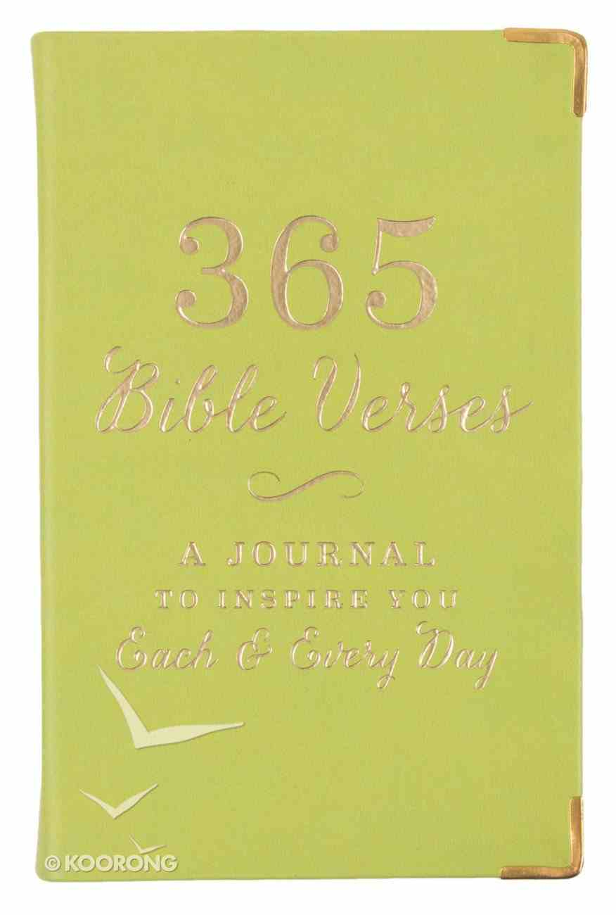 365 Bible Verses: A Journal to Inspire You Each & Every Day, Lime Stationery