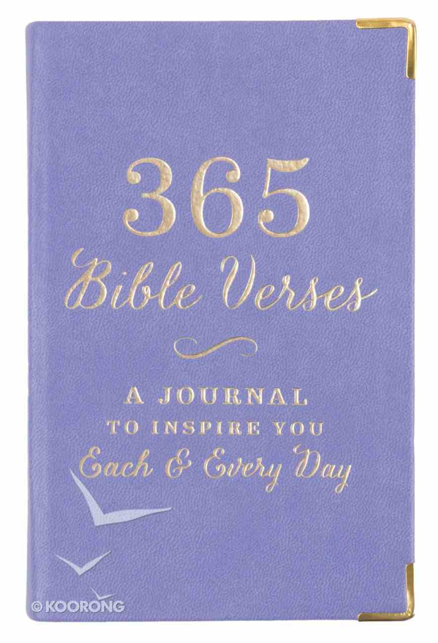 365 Bible Verses: A Journal to Inspire You Each & Every Day, Lavender Stationery