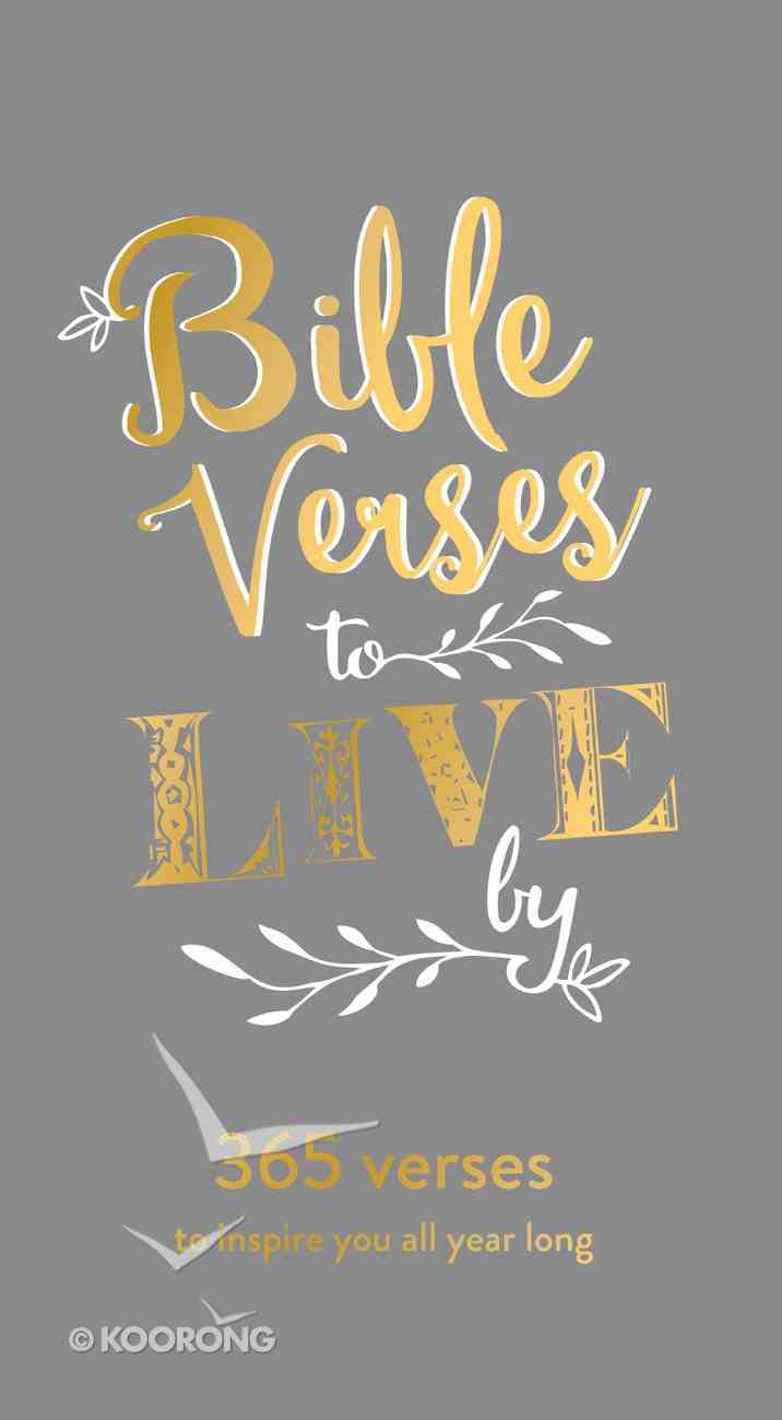 Daily Bible Verse Pad: Bible Verse to Live By, Grey Stationery