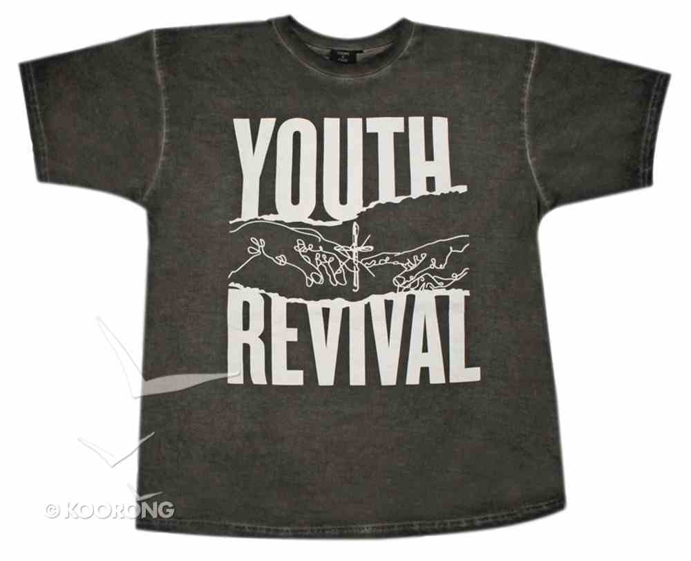 T-Shirt: Youth Revival Extra Small, Black/White Writing Soft Goods
