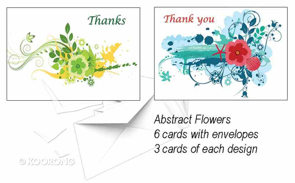 National Day of Thanks Card Pack L: Abstract Flowers Cards