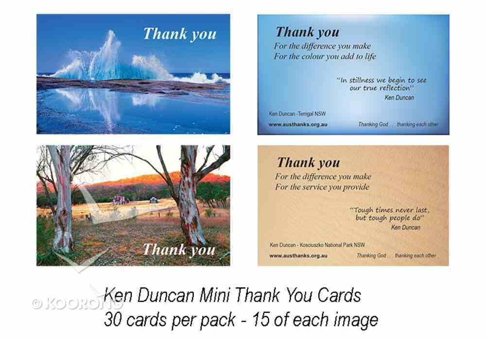 National Day of Thanks Ken Duncan Mini Thank You Cards (30 Pack) Cards