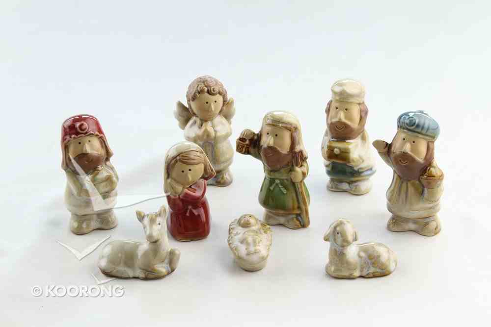 Porcelain Childrens 9 Piece Nativity Set Homeware