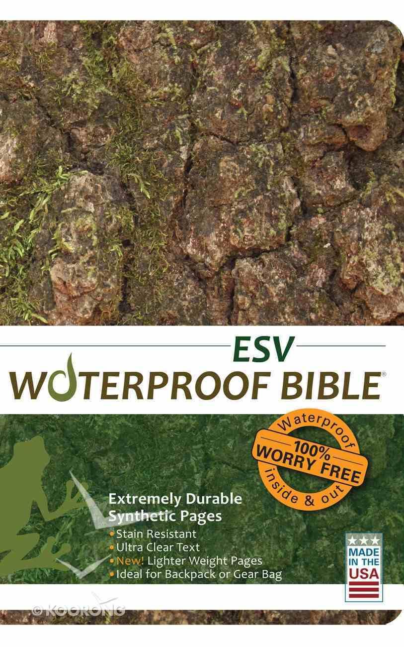 ESV Waterproof Bible Bark/ Camo (Black Letter Edition) Waterproof