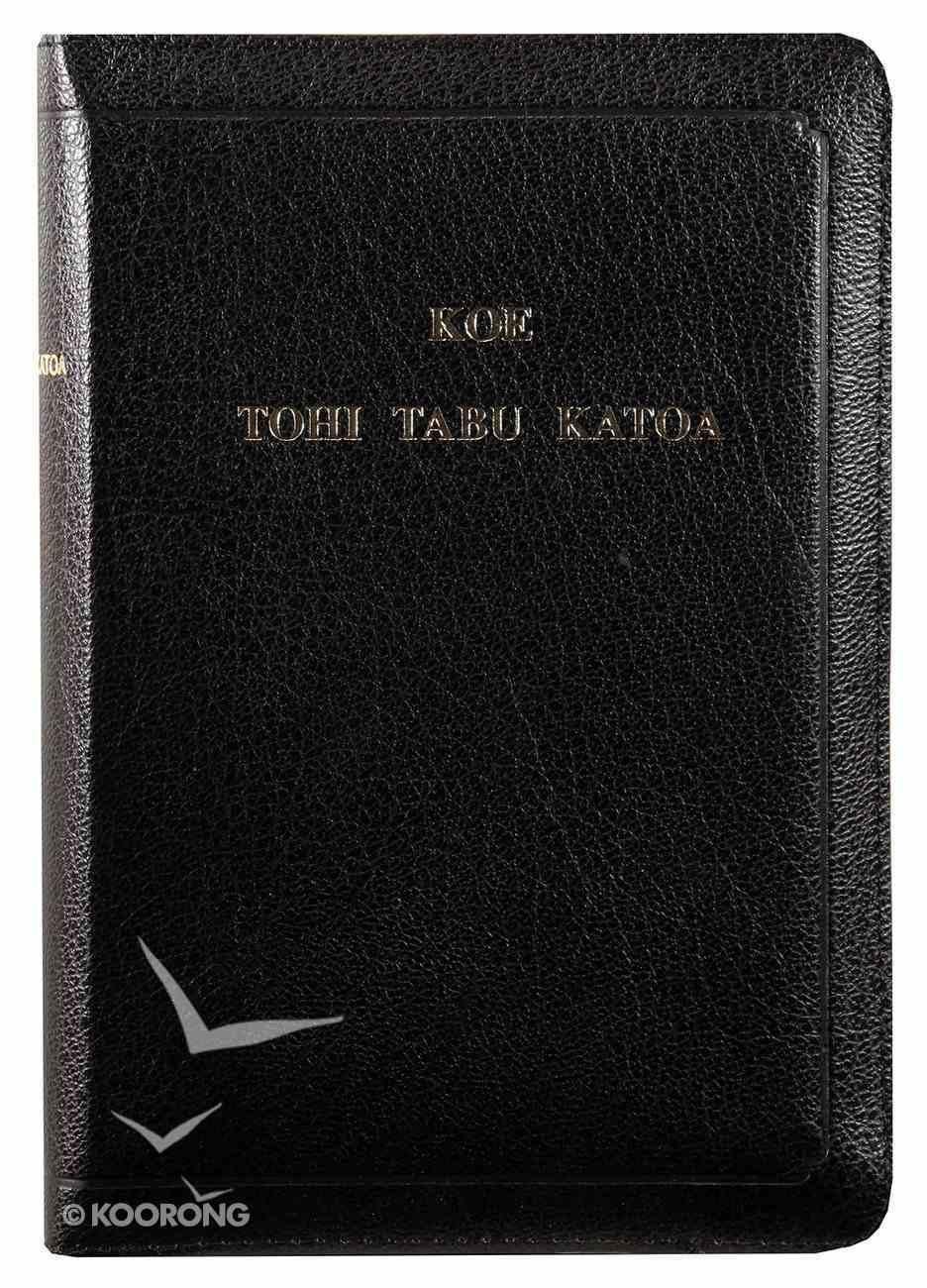 Tongan Holy Bible Black Imitation Leather