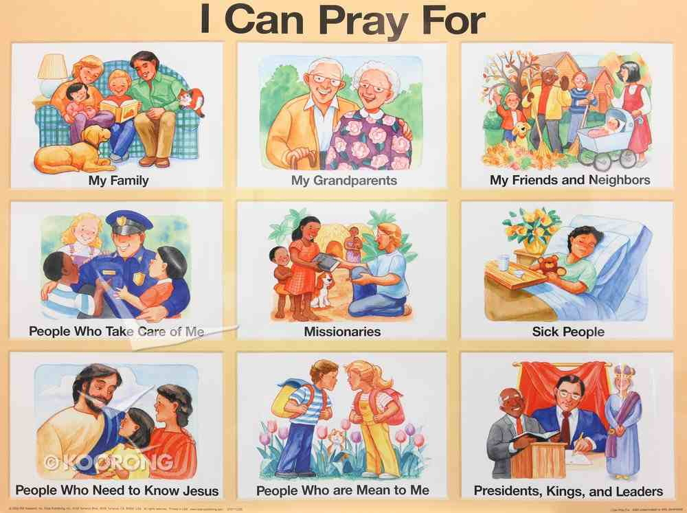 Wall Chart: I Can Pray For (Laminated) Poster