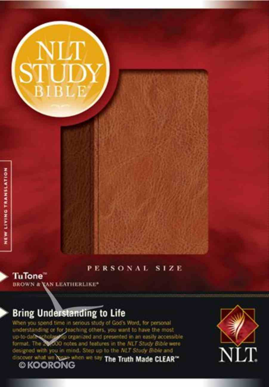 NLT Study Bible Personal Size Brown/Tan (Black Letter Edition) Imitation Leather