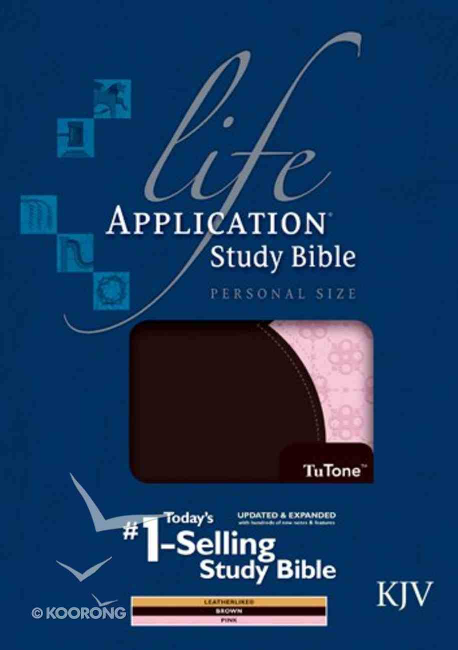 KJV Life Application Study Bible Personal Size Indexed Brown/Pink 2nd Edition (Black Letter Edition) Imitation Leather