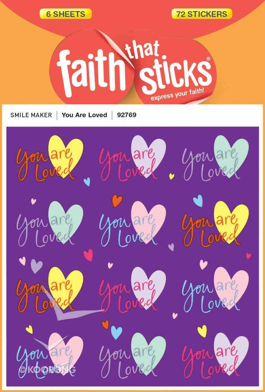 You Are Loved (6 Sheets, 72 Stickers) (Stickers Faith That Sticks Series) Stickers