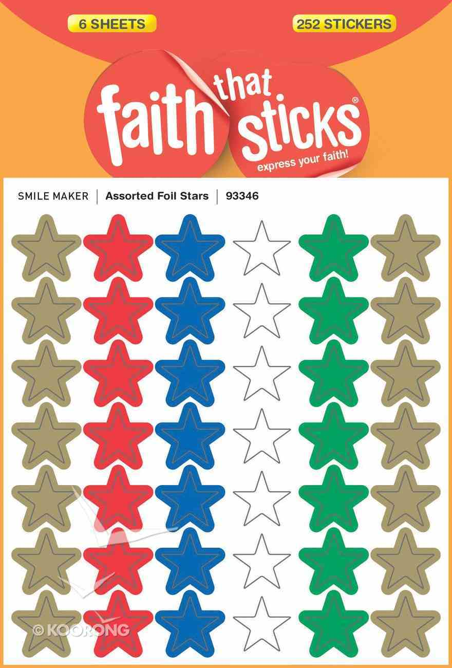 Assorted Foil Stars (6 Sheets, 252 Stickers) (Stickers Faith That Sticks Series) Stickers