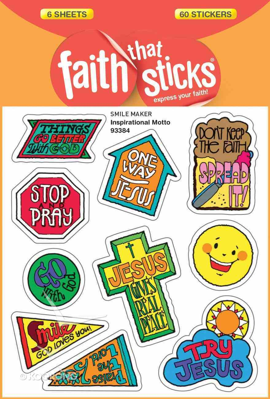 Inspirational Motto (6 Sheets, 60 Stickers) (Stickers Faith That Sticks Series) Stickers