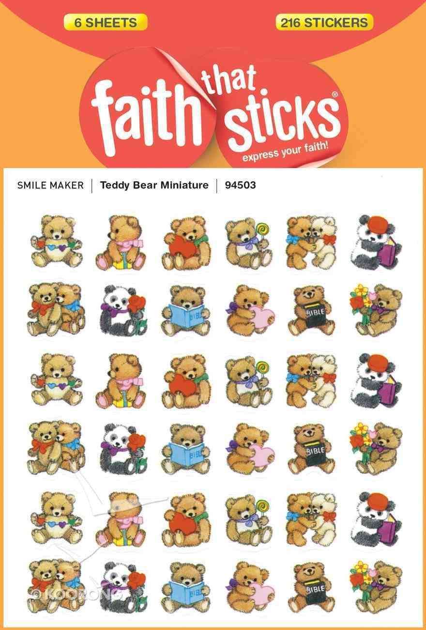 Teddy Bear Miniature (6 Sheets, 216 Stickers) (Stickers Faith That Sticks Series) Stickers