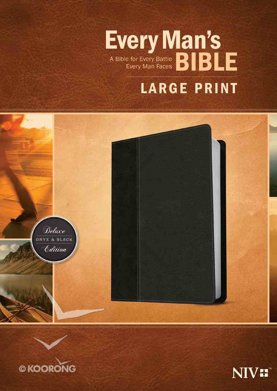 NIV Every Man's Bible Large Print Onyx/Black (Black Letter Edition) Imitation Leather