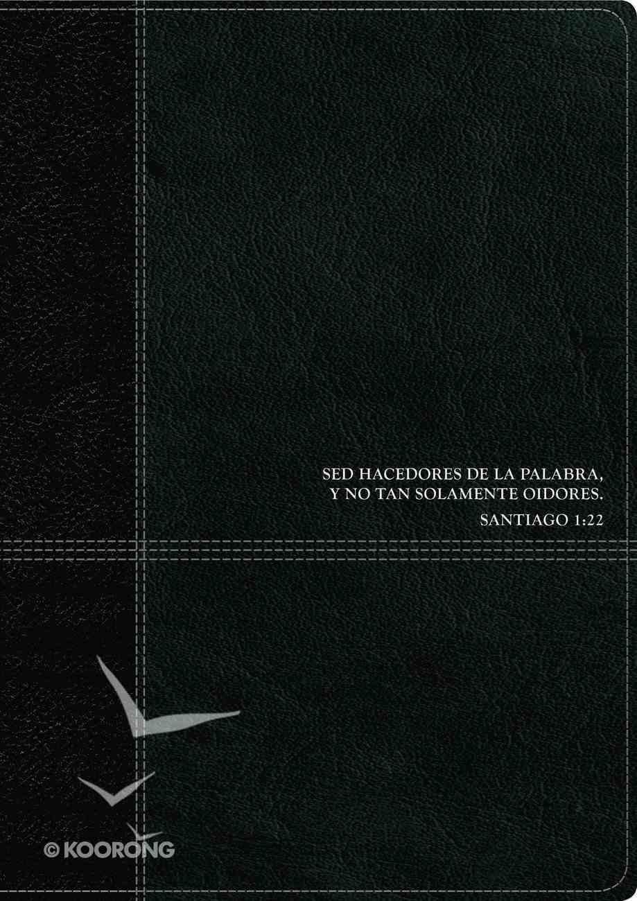 Rvr60 Biblia De Estudio Del Diario Vivir Black/Onyx (Red Letter Edition) Imitation Leather