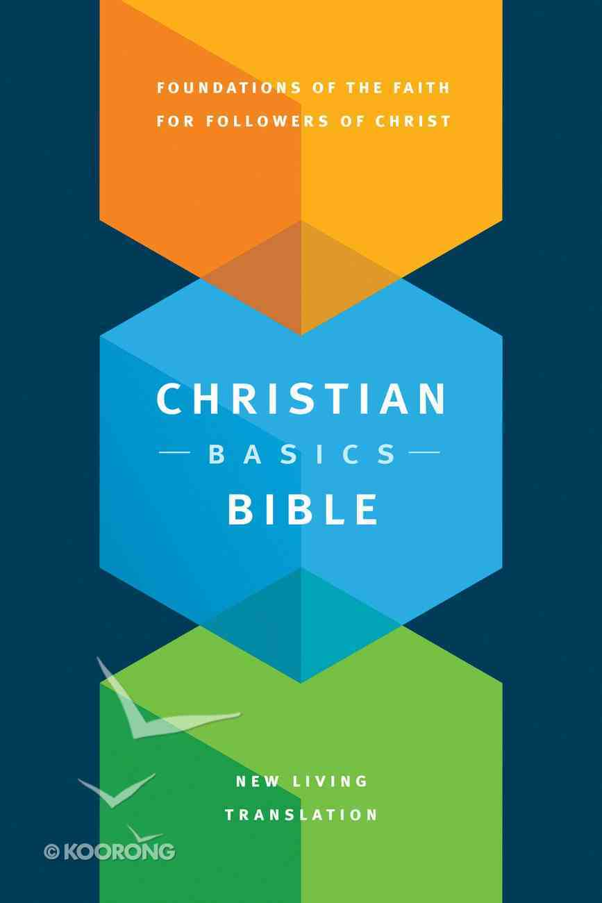NLT Christian Basics Bible (Black Letter Edition) Paperback