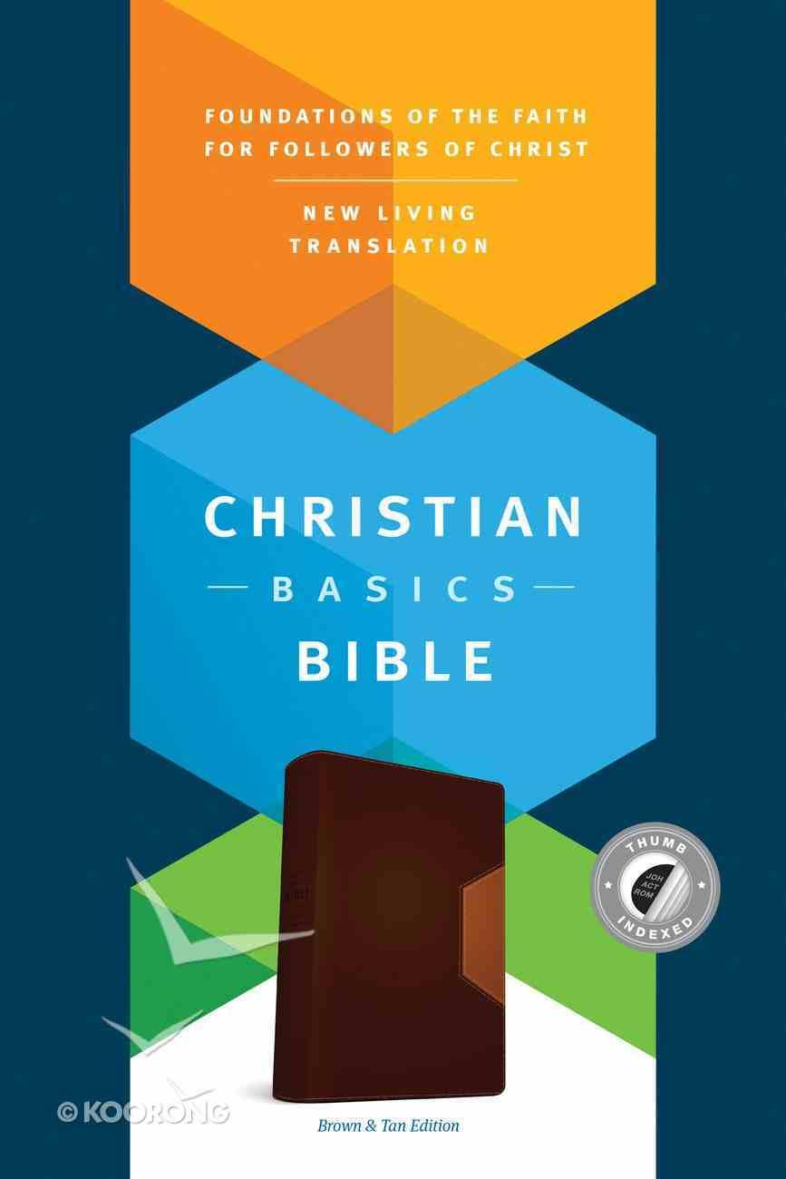NLT Christian Bascis Bible Brown/Tan Indexed (Black Letter Edition) Imitation Leather