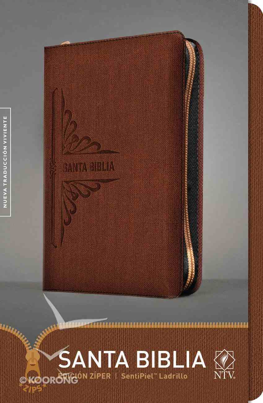 Ntv Santa Biblia Zipper Edition Brick (Black Letter Edition) Imitation Leather