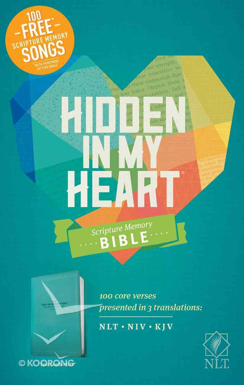 NLT Hidden in My Heart Scripture Memory Bible Teal (Black Letter Edition) Imitation Leather