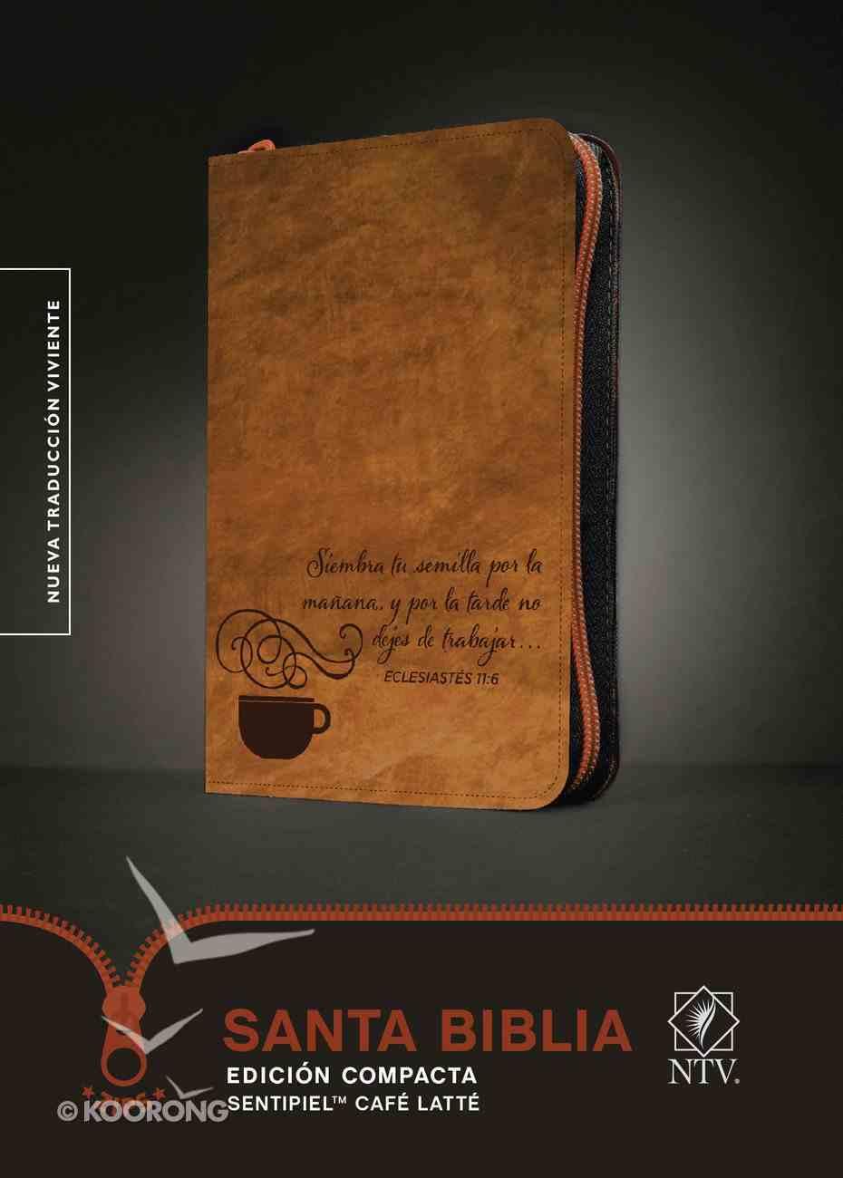 Ntv Santa Biblia Edicion Compacta Coffee Latte With Zipper (Black Letter Edition) Imitation Leather