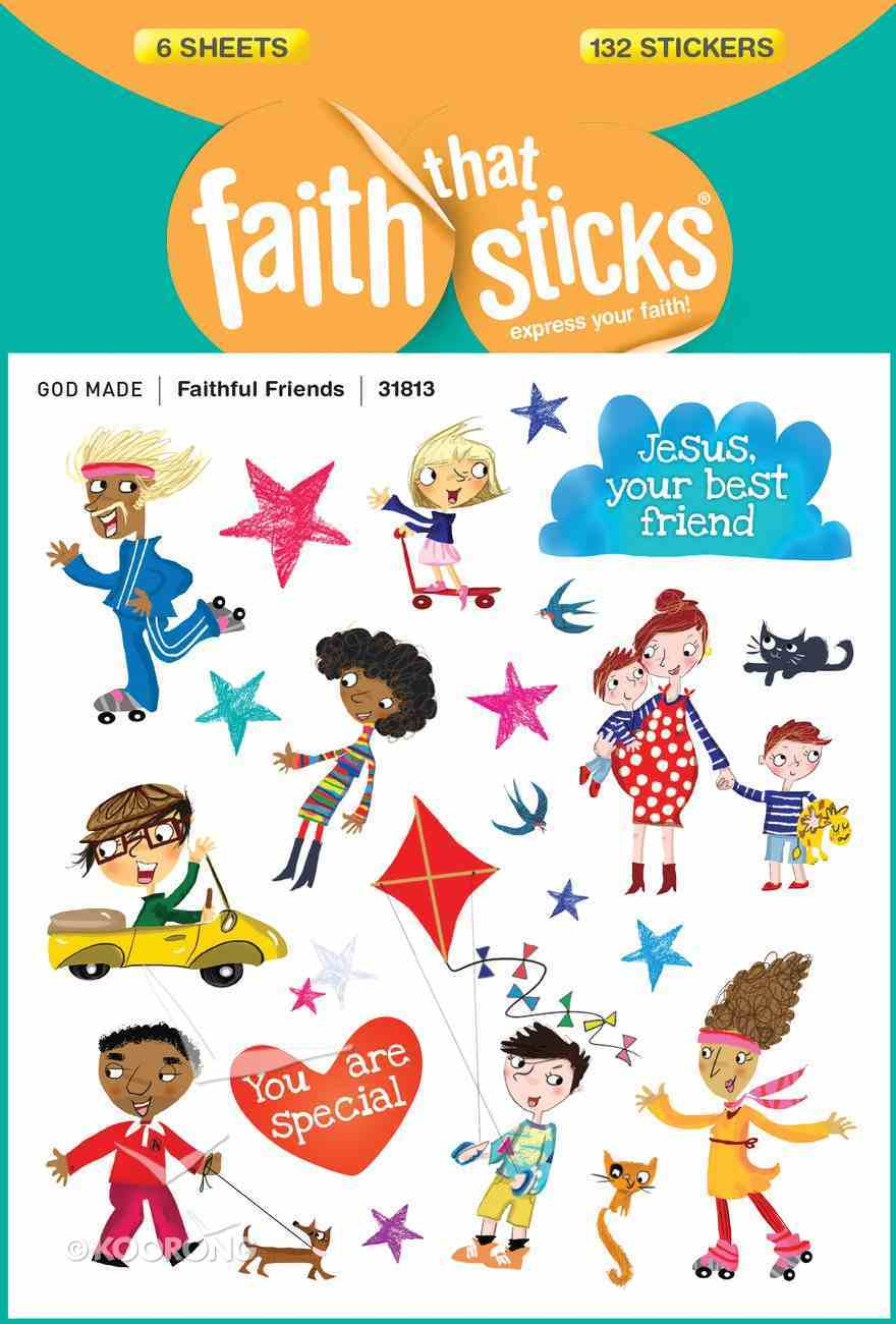 Faithful Friends (6 Sheets, 132 Stickers) (Stickers Faith That Sticks Series) Stickers
