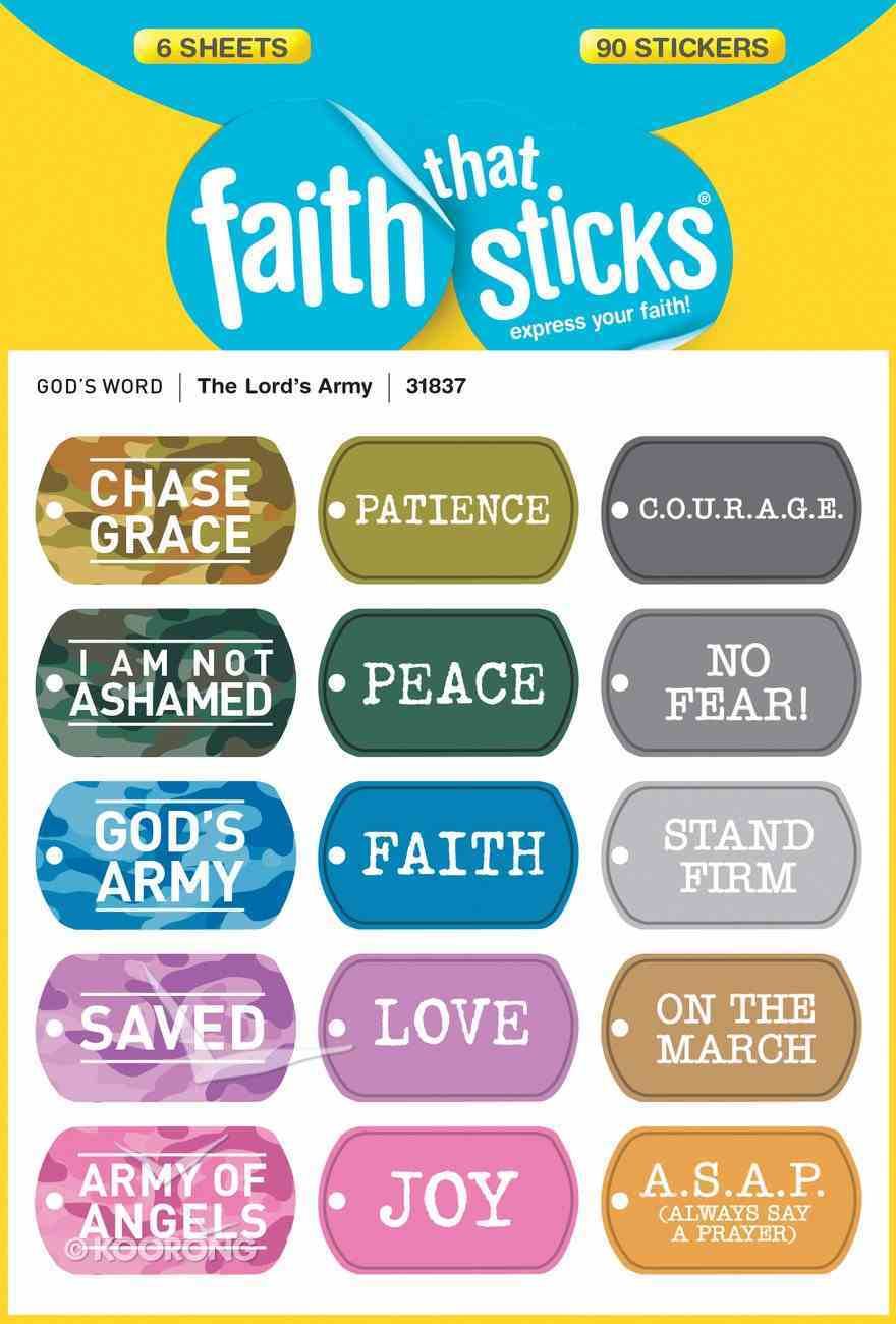The Lord's Army (6 Sheets, 90 Stickers) (Stickers Faith That Sticks Series) Stickers
