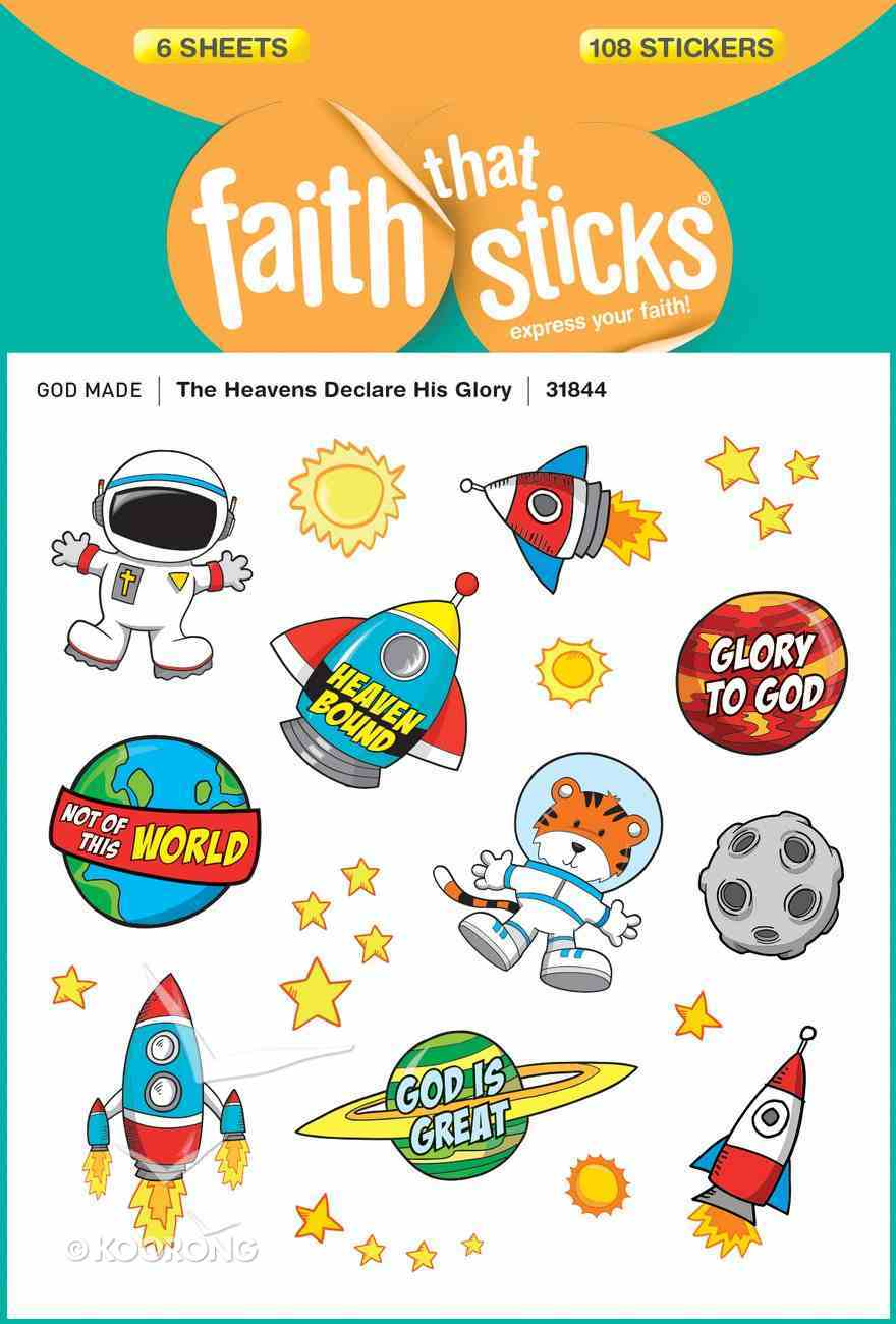 The Heavens Declare His Glory (6 Sheets, 108 Stickers) (Stickers Faith That Sticks Series) Stickers