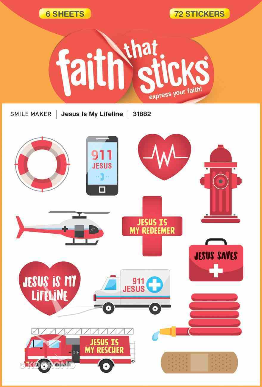 Jesus is My Lifeline (6 Sheets, 102 Stickers) (Stickers Faith That Sticks Series) Stickers