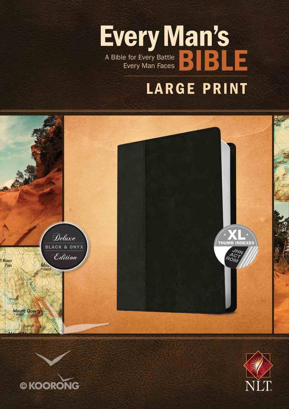 NLT Every Man's Bible Large Print Black/Onyx Indexed (Black Letter Edition) Imitation Leather