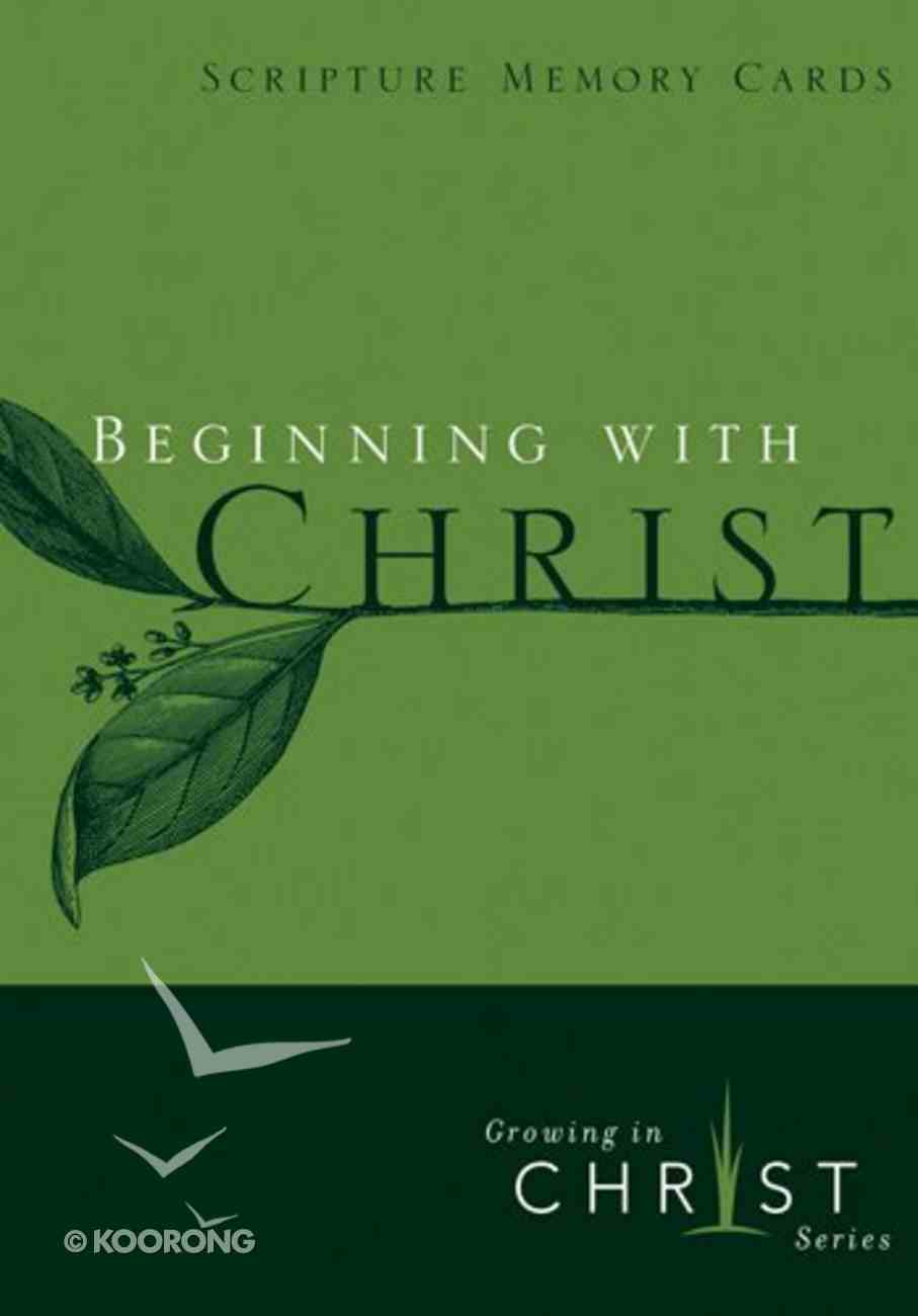 Growing in Christ: Beginning With Christ Booklet