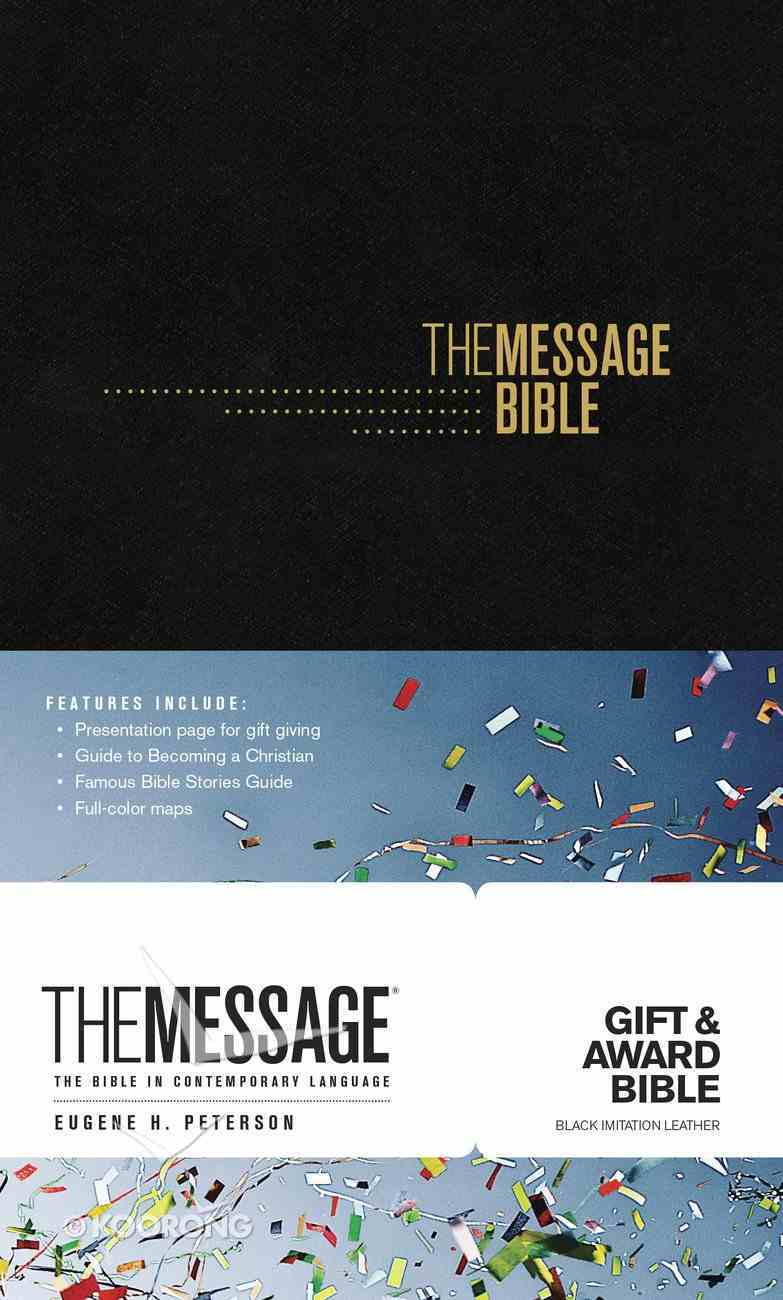 Message Gift and Award Bible Black (Black Letter Edition) Imitation Leather