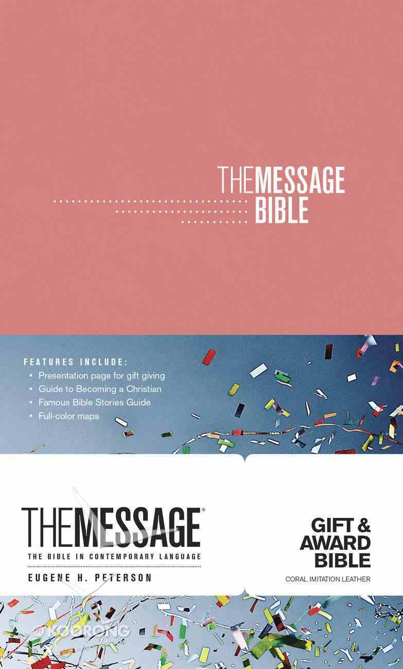 Message Gift and Award Bible Coral (Black Letter Edition) Imitation Leather