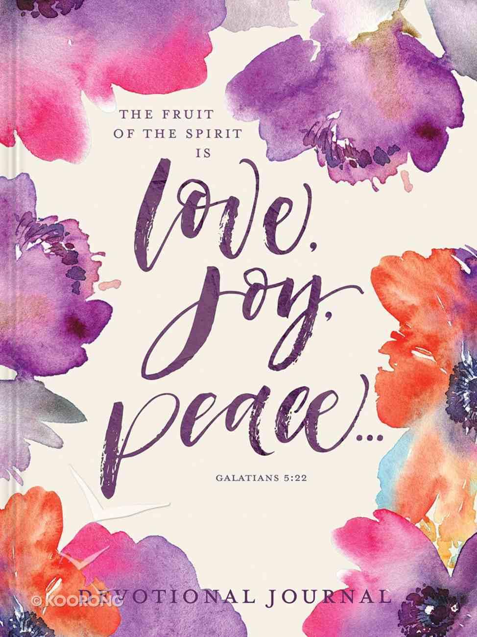 Love, Joy, Peace Devotional Journal (Gal 5: 22) Hardback