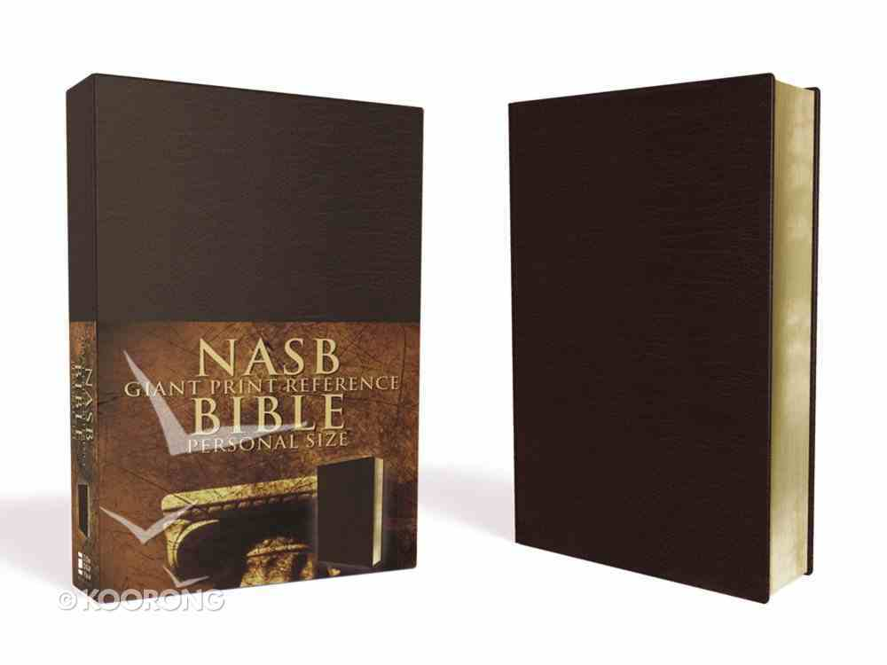 NASB Updated Giant Print Reference Burgundy Personal Size Imitation Leather