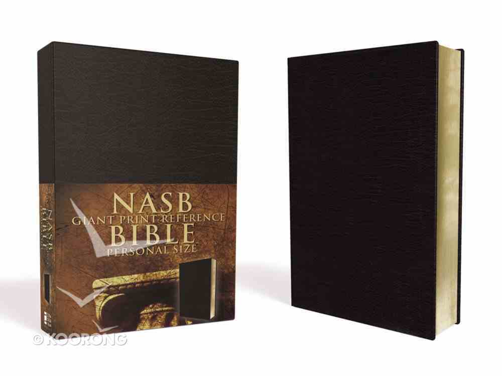 NASB Updated Giant Print Reference Black Personal Size Imitation Leather
