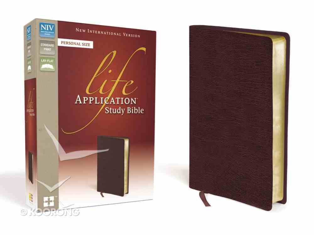 NIV Life Application Study Bible Personal Size Burgundy (Red Letter Edition) Bonded Leather