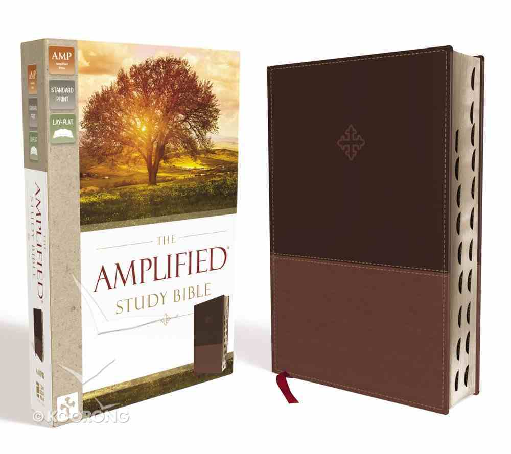 Amplified Study Bible Brown Indexed (Black Letter Edition) Imitation Leather