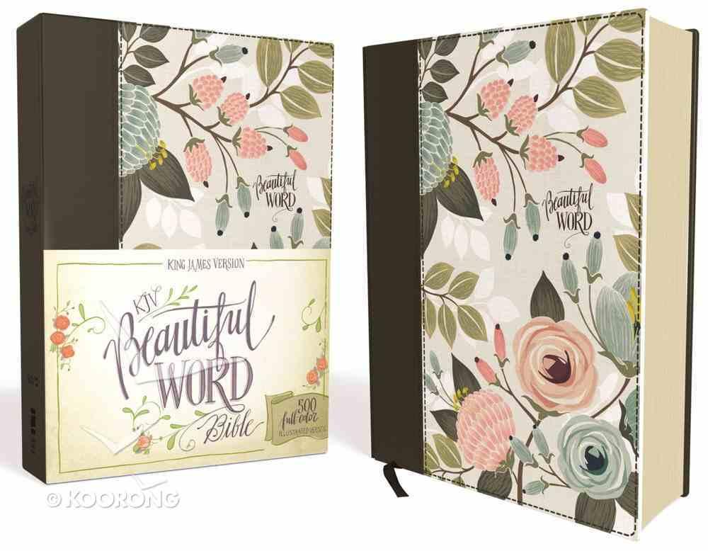 KJV Beautiful Word Bible Floral (Red Letter Edition) Hardback