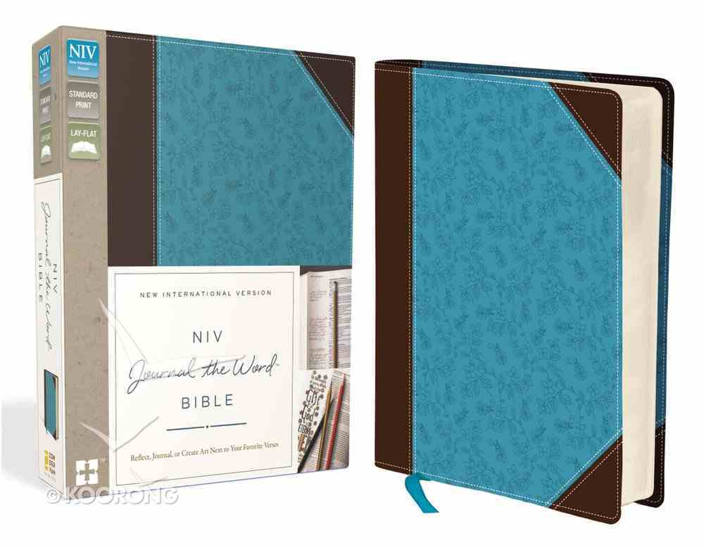 NIV Journal the Word Bible Brown/Blue (Black Letter Edition) Premium Imitation Leather